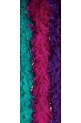Перчатки и боа - Перьевой шарф Фуксия