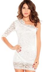 Клубные платья - Платье белое кружевное