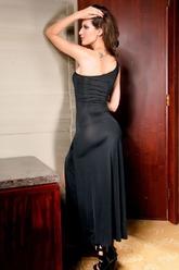 Клубные платья - Платье черное полуоткрытое