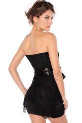 Клубные платья - Платье черное с кружевной баской