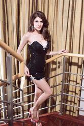 Go-Go костюмы - Платье черное с паетками