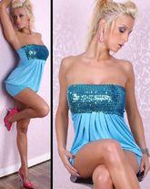 Go-Go костюмы - Платье голубое с блестками