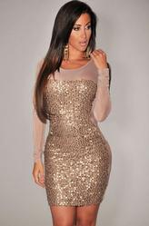 Клубные платья - Платье Мокрый песок