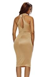 Платье песочного цвета