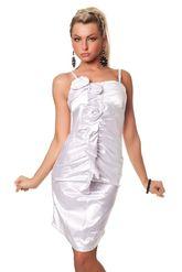 Клубные платья - Платье с цветами белое