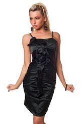 Клубные платья - Платье с цветами черное