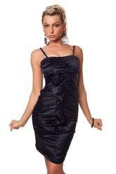 Клубные платья - Платье с цветком темно-синее