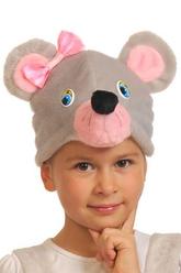 Парики и шляпы - Маска Мышка с бантиком