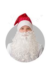 Борода и усы - Плюшевый красный колпак с бородой