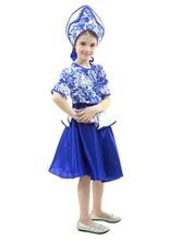 Русские народные - Подростковый костюм Гжельский сувенир