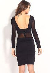 Клубные платья - Полупрозрачное клубное платье