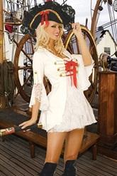 VIP костюмы - Помощница Капитана Флинта в белом