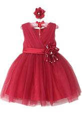 Платья для девочек - Принцесса в бордовом