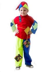 Шуты и скоморохи - Разноцветный детский костюм Скомороха
