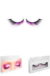 Ресницы и линзы - Ресницы с подкруткой черно-фиолетовые