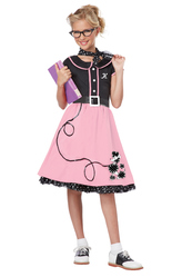 Костюмы для девочек - Костюм Ретро-модница из 50-х