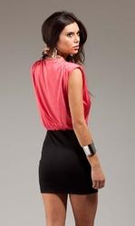 Клубные платья - Розово-черное платье