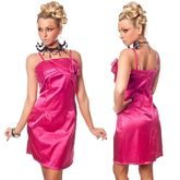 Клубные платья - Розовое платье с розочками