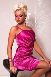 Клубные платья - Розовое платье со складками