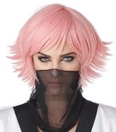 Аниме - Розовый короткий парик