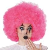 Клоунессы - Розовый кудрявый парик клоуна