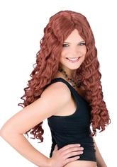 Аксессуары - Рыжий длинный парик 60 см