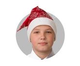 Дед Мороз - Сатиновый красный колпак со снежинками