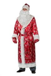 Дед Мороз - Сатиновый красный костюм Деда Мороза