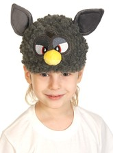 Серая шапочка-маска Ферби