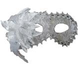 Венецианский карнавал - Серебристая маска с цветком