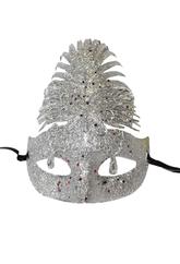 Венецианский карнавал - Серебряная блестящая маска