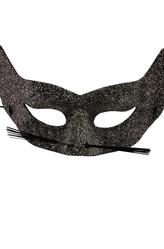 Карнавальные маски - Серебряная маска кошки