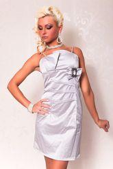 Клубные платья - Серебряное платье-карандаш