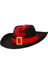 Корсеты - Шляпа черная с пером
