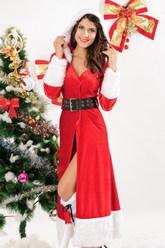 Новогодние костюмы - Костюм Санта в шубке