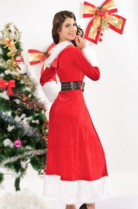 Санта в шубке