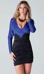 Клубные платья - Сине-черное платье