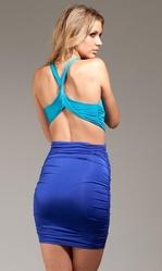 Клубные платья - Сине-голубое открытое платье