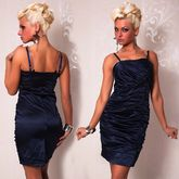 Клубные платья - Синее платье карандаш