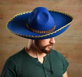 Мексиканские костюмы - Синее сомбреро с вышивкой