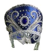 На Новый год - Синий кокошник с узором