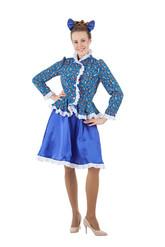 Женские костюмы - Синий костюм Казачки