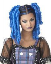 Мальвина - Синий парик с локонами