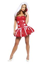 День рождения Деда Мороза - Костюм Снегурочка с капюшоном