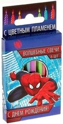 Человек-паук - Свечи с цветным пламенем Человек Паук 6 шт