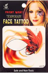Грим для лица - Тату для лица Огненная бабочка