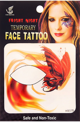 Женские костюмы - Тату для лица Огненная бабочка