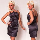 Клубные платья - Темно-серое платье-карандаш