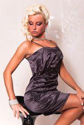 Клубные платья - Темно-серое платье со складками