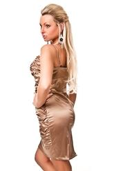 Клубные платья - Темно-золотое платье со складками